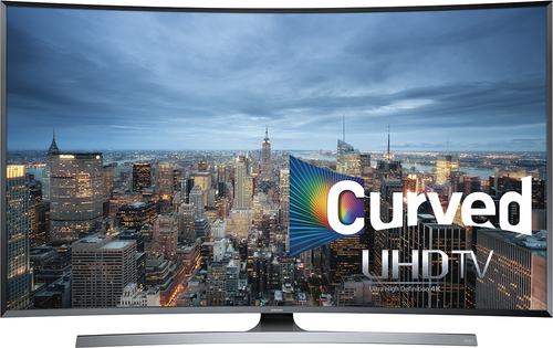 Samsung - 55 Class (54.6 Diag.) - LED - Curved - 2160p - Smart - 3D - 4K Ultra HD TV - Silver