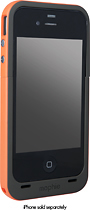 mophie - Juice Pack Plus Charging Case for Apple iPhone 4 and 4S - Orange