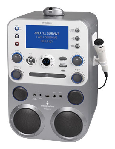 Singing Machine - Bluetooth Cd+g Karaoke System - Silver