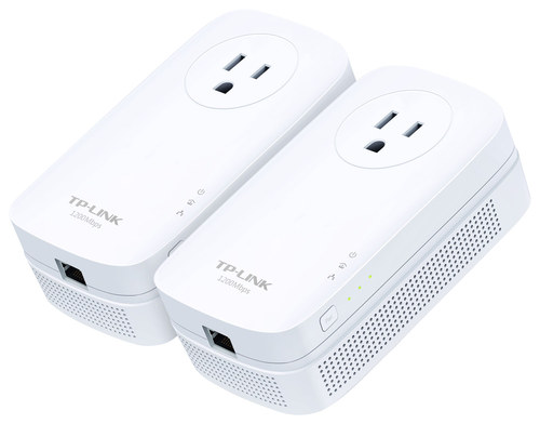TP-Link - Gigabit Pass-Through Powerline Kit - White