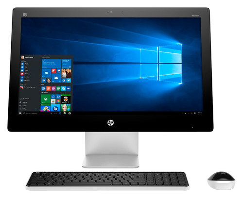 HP - Pavilion 23 Touch-Screen All-In-One - AMD A8-Series - 4GB Memory - 1TB Hard Drive - White