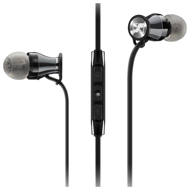 Sennheiser - Momentum Earbud Headphones - Black Chrome