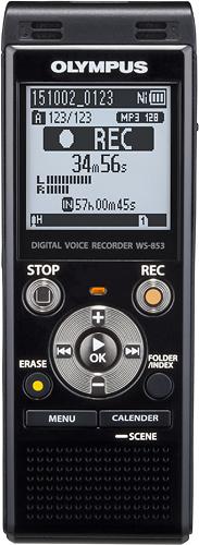 Olympus - WS-853 Digital Voice Recorder - Black