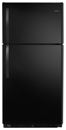 Frigidaire - 14.6 Cu. Ft. Top-Freezer Refrigerator - Black