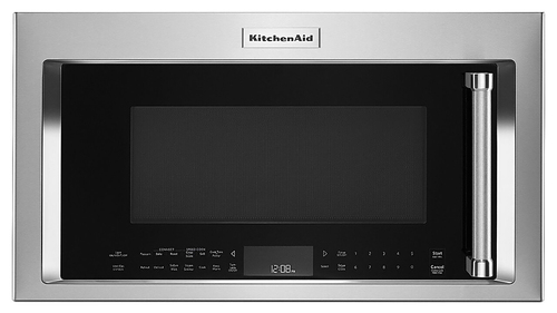 KitchenAid - 1.9 Cu. Ft. Convection Over-the-Range Microwave with Sensor Cooking - Stainless Steel (Silver)