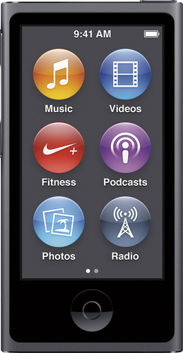 Apple - Geek Squad Certified Refurbished iPod nano® 16GB MP3 Player (8th Generation - Latest Model) - Space Gray