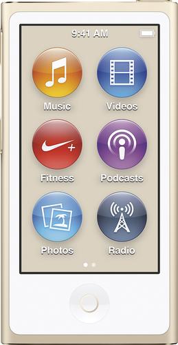 Apple - Geek Squad Certified Refurbished iPod nano® 16GB MP3 Player (8th Generation - Latest Model) - Gold