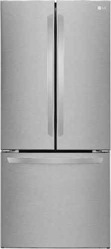 LG - 21.8 Cu. Ft. French Door Refrigerator - Stainless Steel (Silver)