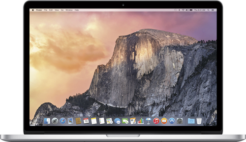 Apple - Geek Squad Certified Refurbished MacBook® Pro - 15.4 Display - Intel Core i7 - 16GB Memory - 256GB Storage - Silver
