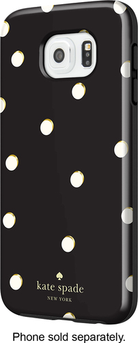 kate spade new york - Hybrid Hard Shell Case for Samsung Galaxy S6 Cell Phones - Scatter Pavilion Black/Cream (Scatter Pavilion Black/Ivory)