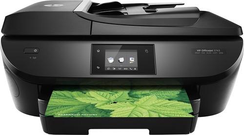 HP - OfficeJet oj 5743 Wireless All-In-One Printer - Black