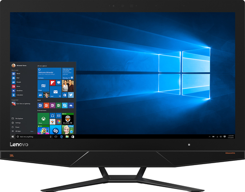 Lenovo - Ideacentre 700 27 4K Ultra HD Touch-Screen All-In-One - Intel Core i7 - 8GB Memory - 1TB+8GB Hybrid Hard Drive - Black/Gray