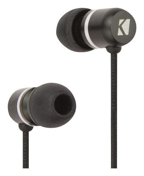 Kicker - Phenom Talk Earbud Headphones - Black