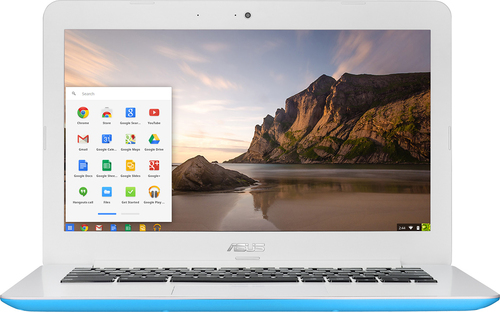 Asus - 13.3 Chromebook - Intel Celeron - 2GB Memory - 16GB eMMC Flash Memory - Blue