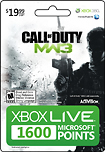 Microsoft - Call of Duty: Modern Warfare 3 1600 Points Card for Xbox LIVE