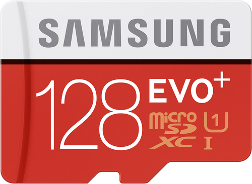 Samsung - Evo+ 128GB microSDHC Class 10 UHS-1 Memory Card - Red/White