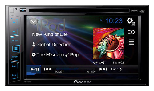 Pioneer - 6.2 - CD/DVD - In-Dash Receiver with Nondetachable Faceplate - Black
