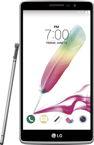 Virgin Mobile - LG G Stylo 4G with 8GB Memory No-Contract Cell Phone - Light Gray