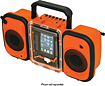 Grace Digital - Eco Terra Waterproof Speakers for Apple iPhone and Most MP3 Players - Orange