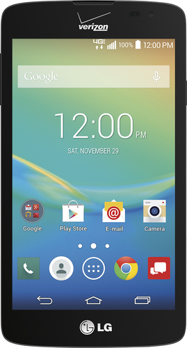 Verizon Wireless Prepaid - LG Transpyre 4G with 8GB Memory No-Contract Cell Phone - Black