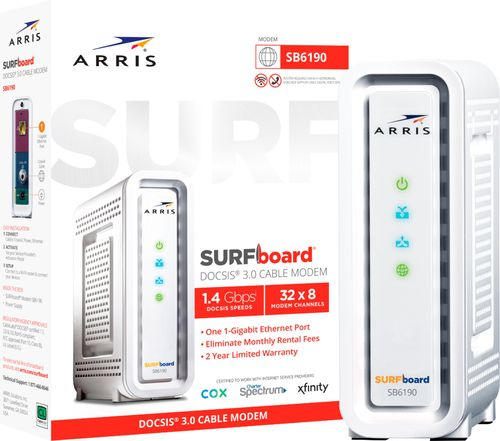Arris - SURFboard Docsis 3.0 High-Speed Broadband Cable Modem - White