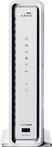 Arris - SURFboard High-Speed Broadband Cable Modem and Wi-Fi Router - White
