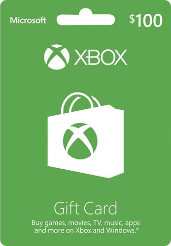 Microsoft - $100 Xbox Gift Card
