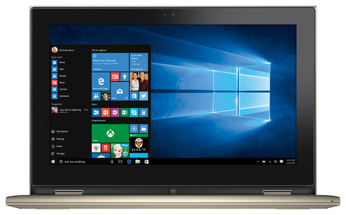 Dell - Inspiron 2-in-1 11.6 Touch-Screen Laptop - Intel Pentium - 4GB Memory - 128GB Solid State Drive - Gold