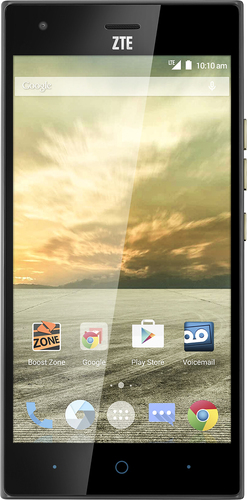 Boost Mobile - ZTE Warp Elite 4G with 16GB Memory No-Contract Cell Phone - Black