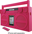 iHome - iP4 Boombox with FM Radio and Apple iPhone and iPod Dock - Pink