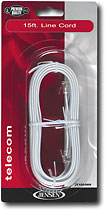 Jensen - 15&#039; Line Cord - White