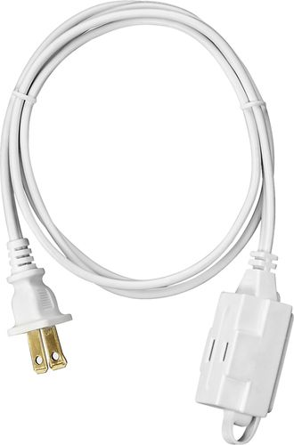 Insignia™ - 4' 3-Outlet Extension Power Cord - White