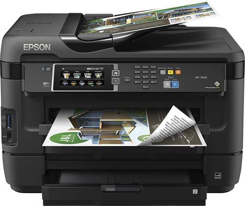Epson - WorkForce WF-7620 Wireless Wide-Format All-In-One Printer - Black