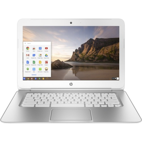 HP - 14 Chromebook - Intel Celeron - 2GB Memory - 16GB eMMC Flash Memory - Turbo Silver/Snow White