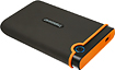 Transcend - StoreJet Rugged Series SJ25M2 External 750GB USB 20 Portable Hard Drive - Gray/Orange