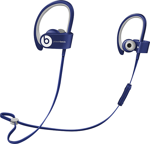 Beats by Dr. Dre - Geek Squad Certified Refurbished Powerbeats2 Wireless Earbud Headphones - Blue