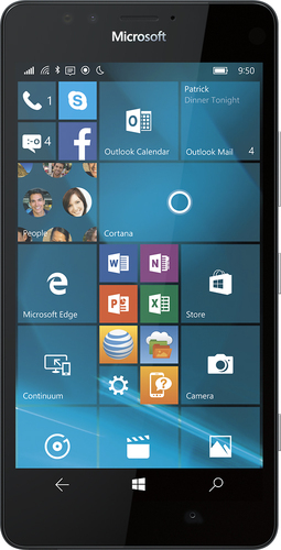 Microsoft - Lumia 950 4G LTE with 32GB Memory Cell Phone - Black (At&t)