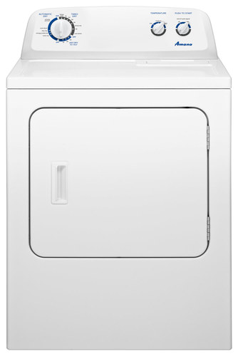 Amana - 7.0 Cu. Ft. 13-Cycle Electric Dryer - White