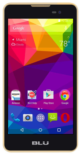 BLU - Dash M with 4GB Memory Cell Phone (Unlocked) - Gold
