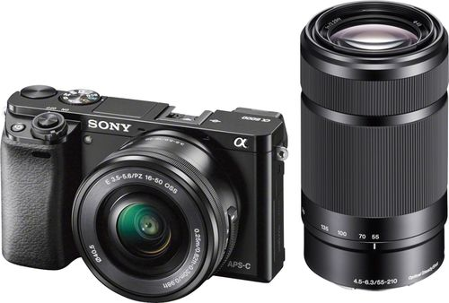 Sony - Alpha a6000 Mirrorless Camera with 16-50mm and 55-210mm Lenses - Black