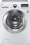 LG - TurboWash 37 Cu Ft 12-Cycle High-Efficiency Steam Front-Loading Washer - White