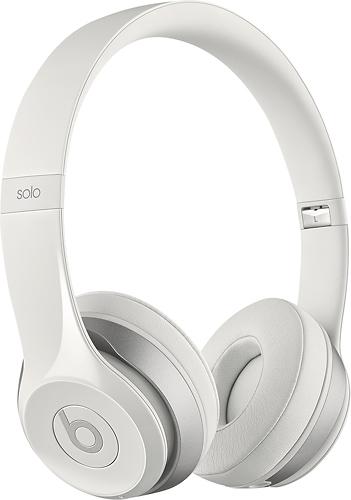 Beats by Dr. Dre - Geek Squad Certified Refurbished Beats Solo 2 On-Ear Wireless Headphones - White