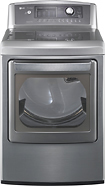 LG - SteamDryer 7.3 Cu. Ft. 14-Cycle Ultra-Large Capacity Steam Gas Dryer - Graphite Steel