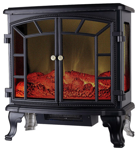 Global Air - Deluxe Stove Heater - Black