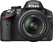 Nikon - D3200 DSLR Camera with 18-55mm VR Lens - Black