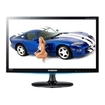 "Samsung - 21.5"" Widescreen Flat-Panel LED HD Monitor - Black High Glossy/Blue Deco"