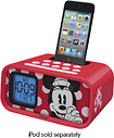 iHome - Disney Minnie Mouse Dual Alarm Clock Speaker System for Apple iPod