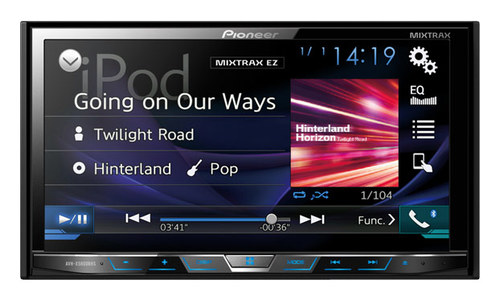 Pioneer - 7 - CD/DVD - Built-in Bluetooth - Apple® iPod®- and Satellite Radio-Ready - In-Dash Receiver - Black