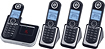 Motorola - L804 DECT 60 Expandable Cordless Phone System with Digital Answering System