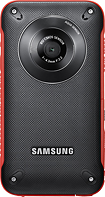 Samsung - W300 HD Flash Memory Camcorder - Red